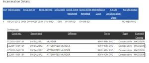 incarceration details