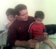 Neal Williams with children