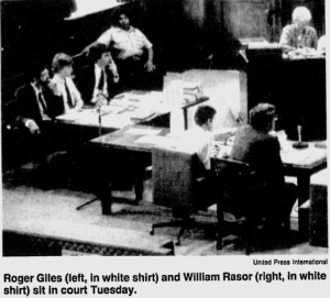 Giles and Rasor in court