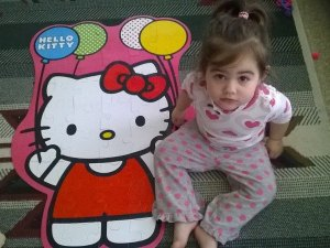Bella with Hello Kitty