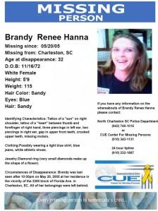Hanna missing poster