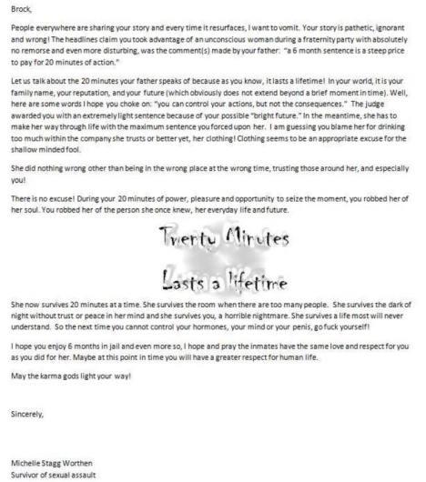 survivor letter